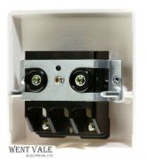 Crabtree Capital Series 4000 - 4506 - 45a Cable Termination Outlet Plate + Clamp